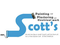Painter, painting, electrician, electrics and plastering, plasterer. Scott's building service