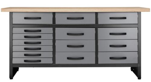 werkbank mit 15 schubladen profiqualit t f r die werkstatt. Black Bedroom Furniture Sets. Home Design Ideas