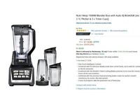Full Set Ninja Blender £30, Full price $120 Good Condition