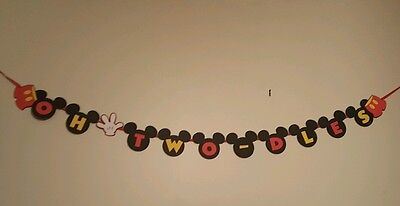 Mickey Mouse Oh Two-dles Banner -Happy Birthday