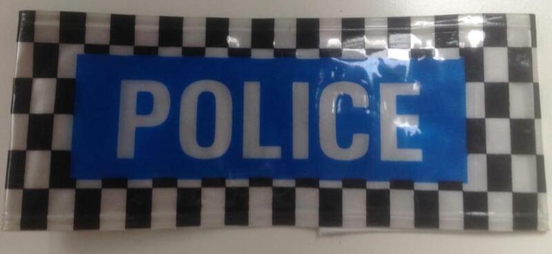 British reflective  & Checkerband    undercover  POLICE / Detective ARMBAND