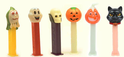 Halloween PEZ Dispensers Ghosts Lot Of 7 Collection Assortment Retired Glow Set
