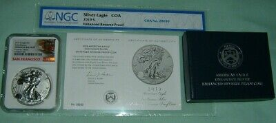 2019 S Enhanced Reverse Proof $1 American Silver Eagle NGC PF69 First Release,