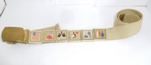 Vintage BSA / Boy Scouts Belt & Merit Badges