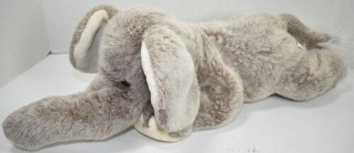 Toys R Us ANIMAL ALLEY GRAY FLOPPY LAZY ELEPHANT w/ BIG EARS Stuffed Plush TOY