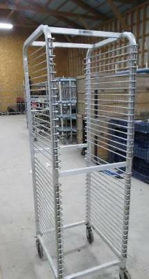 Winholt Aluminum Full Size Wire Shelf Sheet Pan Rack Cart Tall Mobile Bun Tier