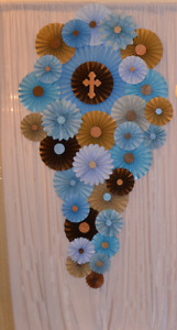 First Holy Communion Backdrop (Boys) and Cake Table Decor