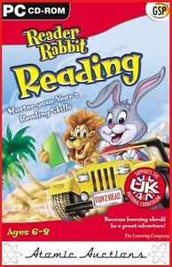 NEW Reader Rabbit Reading - Ages 6-8 PC CD-ROM FREE P&P Educational Software