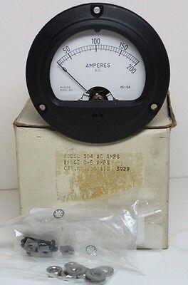 Unused Weston 304 Eil Instruments 0-200 Ac Amp Panel Meter 260115