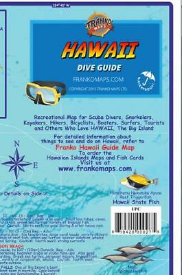 The Big Island Hawaii Dive   Snorkeling Map Waterproof By Franko Maps