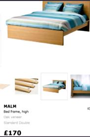Ikea malm double bedframe