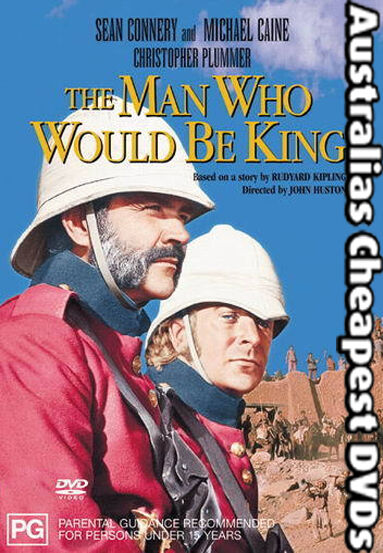 The Man Who Would Be King DVD NEW, FREE POSTAGE WITHIN AUSTRALIA REGION ALL