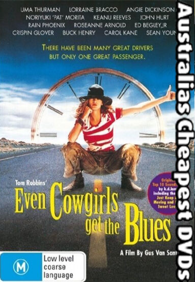 Even Cowgirls Get The Blues  DVD NEW, FREE POSTAGE WITHIN AUSTRALIA REGION 4
