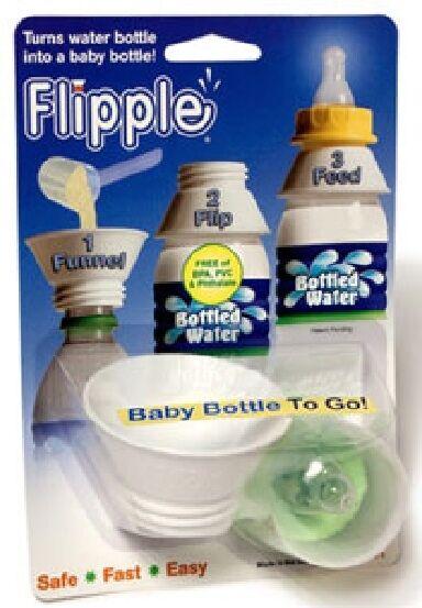 Flipple Travel Adapter-Converts Water Bottle to Baby Bottle Nipple