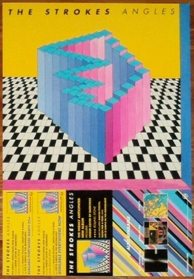 THE STROKES Angles Ltd Ed Discontinued RARE Tour Poster +FREE Alt Rock Poster!