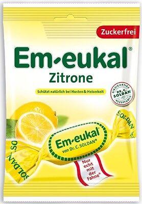 (100g=2,65€) Em-eukal Hustenbonbons Zitrone zuckerfrei - Bonbons - 75g