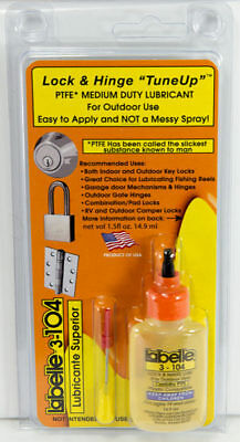 Home Depot recommended lock Lubricants  2-pak/ Labelle Oil & PTFE** Dry Lube