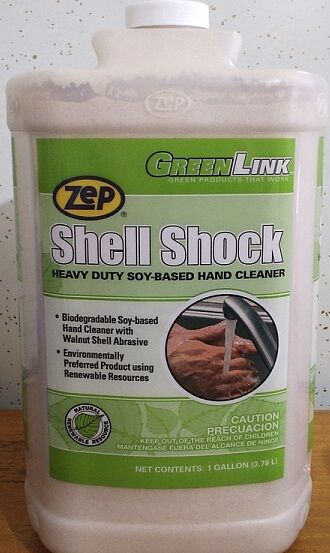 ZEP SHELL SHOCK HAND CLEANER, SINGLE GALLON, ONLY $35.89/GALLON, FREE SHIPPING
