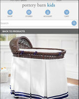 Pottery Barn Bassinet Brown