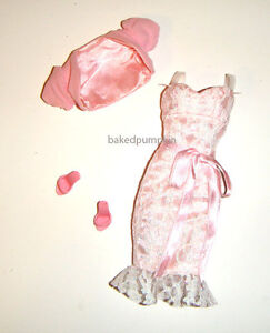 Barbie Fashion Pink Sassy Lace Dress For Model Muse Dolls fn140
