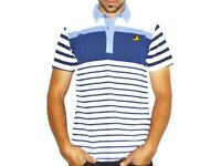 Blue polo t-shirt with stripes