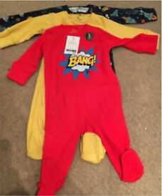 3 pack unused Next sleepsuits age 0-3 months
