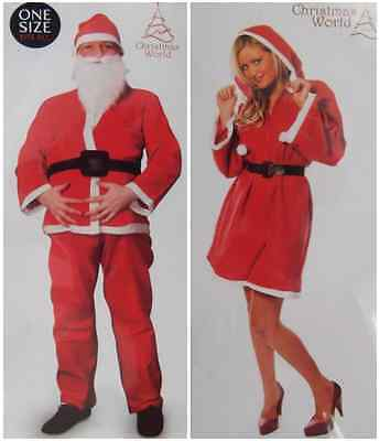 Santa Suit Female (ADULT SANTA CLAUS SUIT CHRISTMAS RED FANCY DRESS MALE/FEMALE COSTUME BRAND)