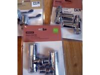 Replacement tap heads & Radiator valve sets X2 (inline & angled) £35 for the lot