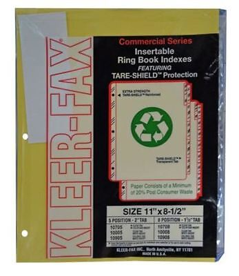 Kleerfax 10005 Commercial Insertable Index Divider - 5 Clear, Box of 36 Sets