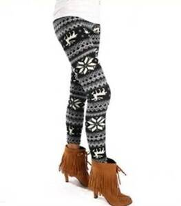 Women's Retro Knitted Warm Tights Snowflakes Winter Legging Modbury Heights Tea Tree Gully Area Preview