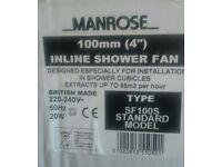 £20 in-line shower fan,new