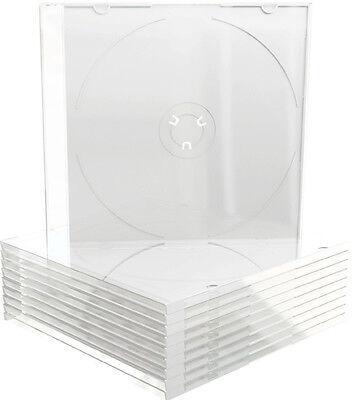 100 MediaRange CD / DVD Slim Case matt transparent Leer Hülle für 1 Disk Box