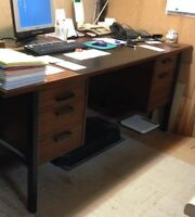 Executive Desk & Credenza