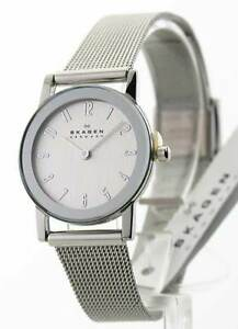 Skagen Womens Ultra Slim Stainless Steel Mesh Band Dress 39SSS Watch