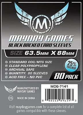 Mayday - Black Premium Card Sleeves 63.5mm X 88mm - Pack of 80
