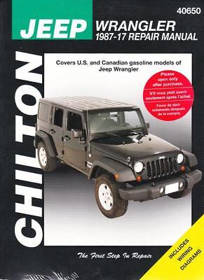1987-2017 Jeep Wrangler Chiltons Repair Service Workshop Shop Manual Book 3084