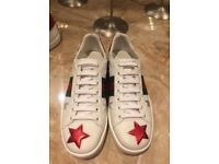 Gucci white ace low top Star embossed trainers