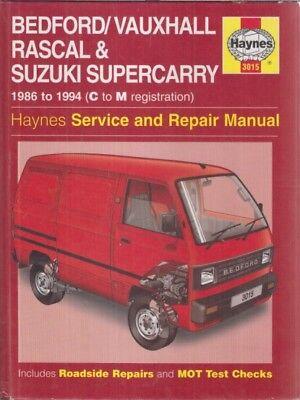 BEDFORD RASCAL & SUZUKI SUPERCARRY ( 1986 - 1994 ) SERVICE & REPAIR MANUAL