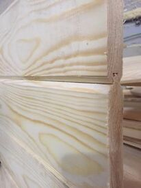 PINE REDWOOD TIMBER VGROOVE CLADDING 110 COVERAGE X 20 THICKNESS £0.89 PER METER