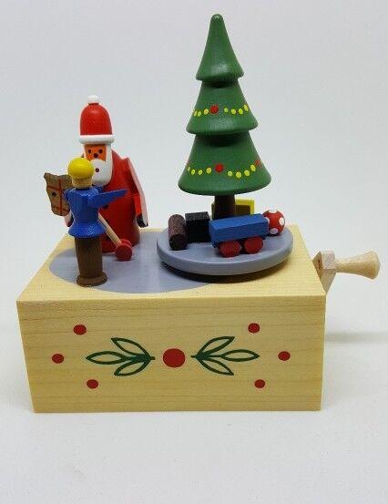 Handmade German Dregeno Santa Music Box, New, 222/09W