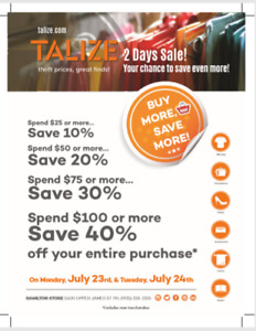 BUY MORE, SAVE MORE EVENT AT TALIZE - SAVE UPTO 40% OFF