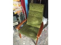 Vintage Parker Knoll Wing Back Chair Model No. 1067-70