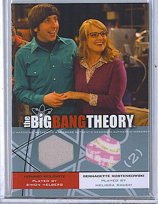 Simon Helberg Melissa Rauch 2012 Big Bang Theory Dual Wardrobe Card