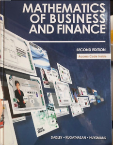 mathematics of business and finance Textbook for sale!