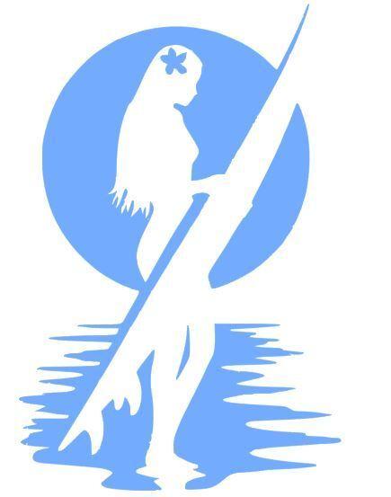 Car Window Vinyl Decal Sticker- Sports Surfing Girl with Hib
