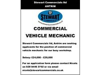 **Commercial vehicle mechanic wanted**