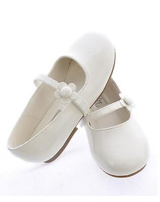 GIRLS Youth Kids DRESS SHOES Pageant Church Formal Wedding Birthday Party WHITE - White Childrens Dress Shoes