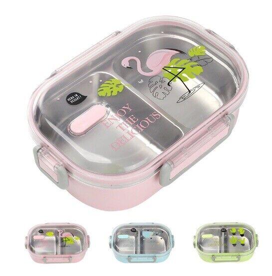 Tragbar Mikrowelle Lunchbox mit Fach Lebensmittelbehälter 304 Edelstahl