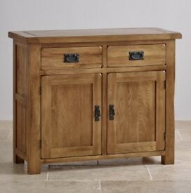 Rustic Solid Oak TV Cabinet and Sideboard