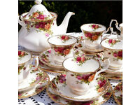 "32 piece Royal Albert ""Old Country Roses"" teaset for sale"
